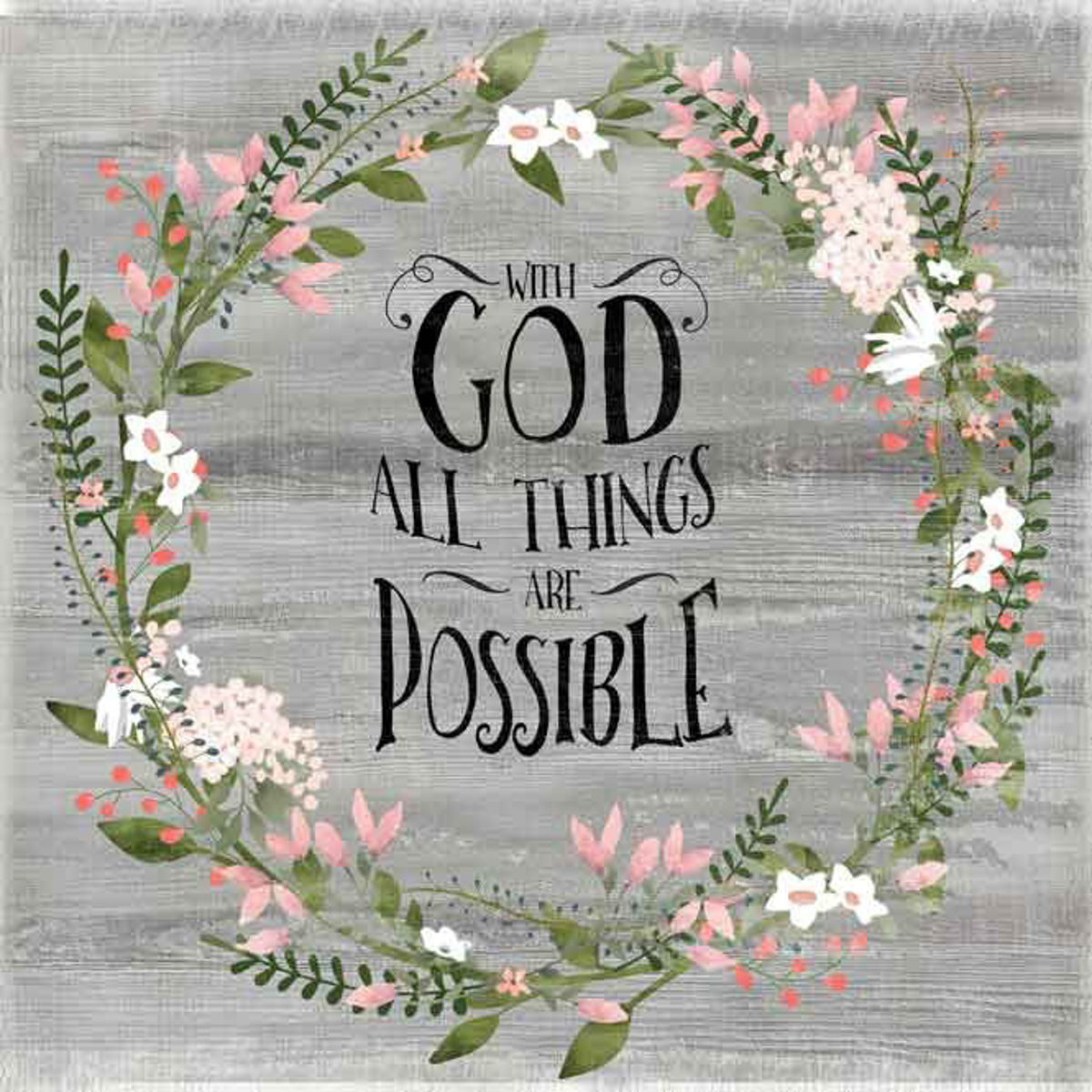 Picture of WITH GOD ALL THINGS WALL ART