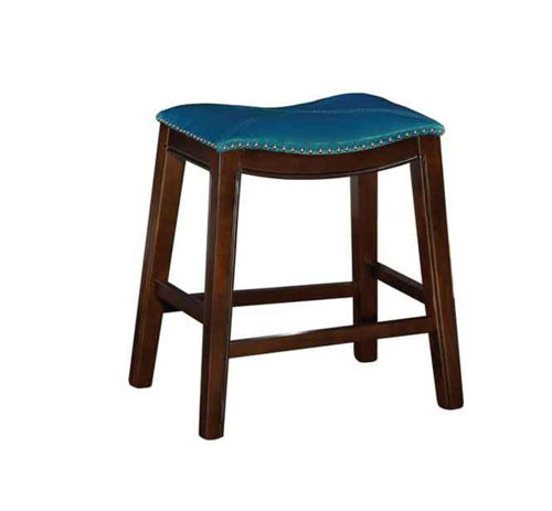 "Picture of SADDLE CREEK BOGO TEAL 24"" COUNTER STOOL"