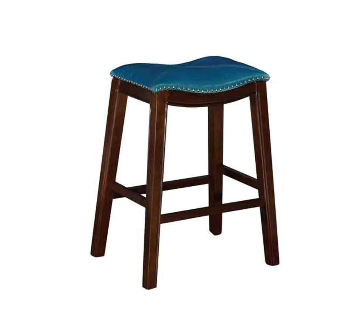 "Picture of SADDLE CREEK BOGO TEAL 30"" BAR STOOL"