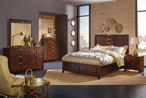 Picture of DIPLOMAT 5 PIECE QUEEN STORAGE BEDROOM SET