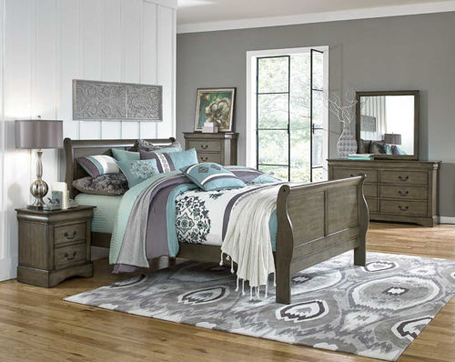 Picture of LEWISTON GREY 5 PIECE KING BEDROOM SET