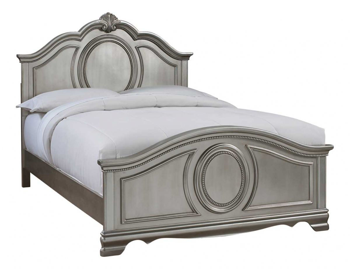Picture of GRACE SILVER TWIN PANEL BED