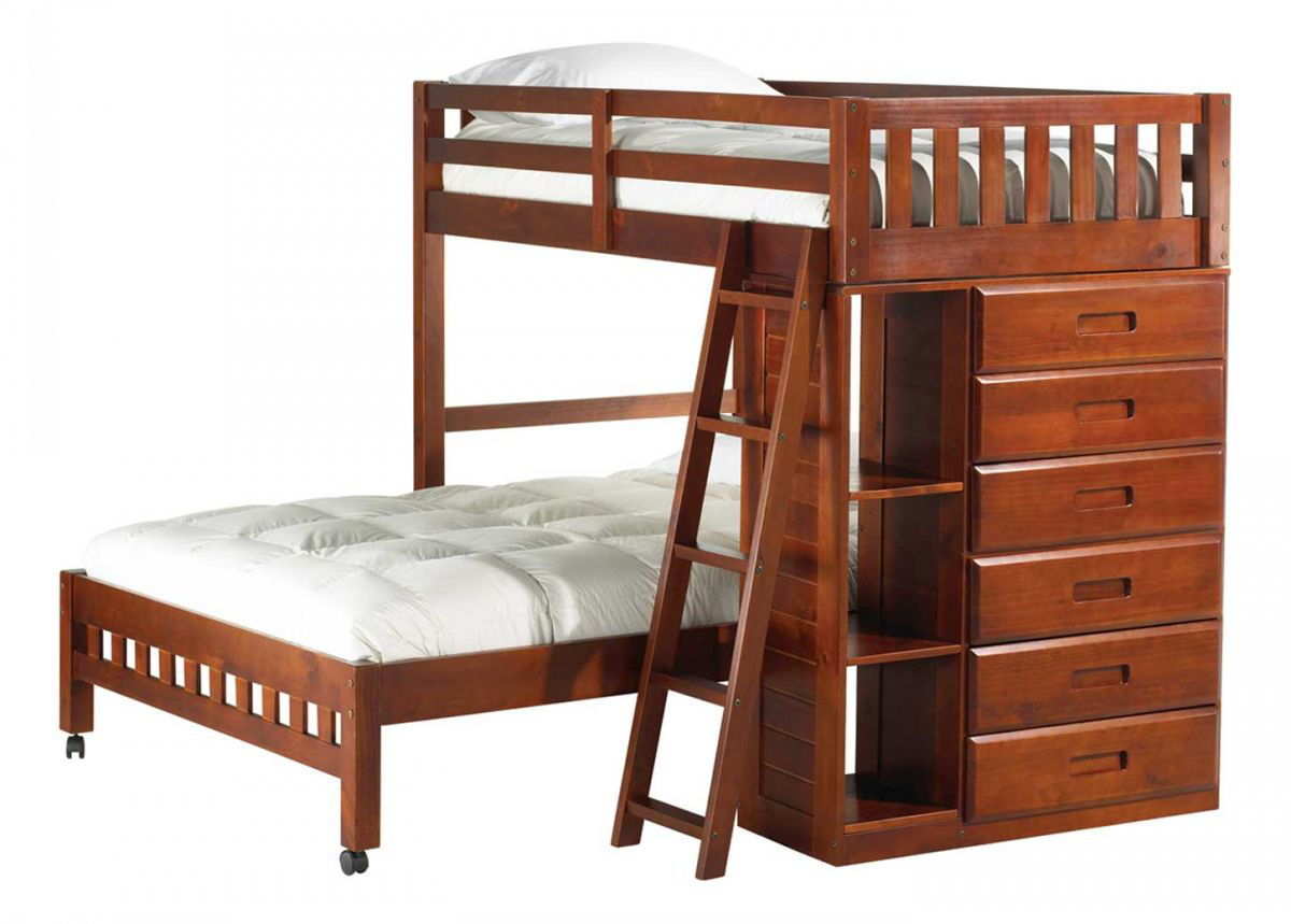 Picture of FORRESTER TWIN OVER FULL LOFT BED