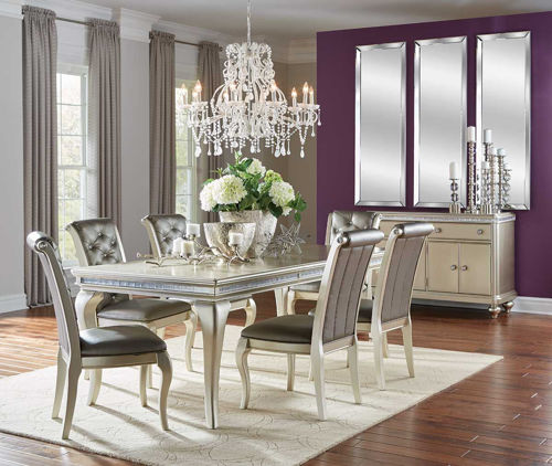 Picture of SILVER GLAM DINING LEG TABLE