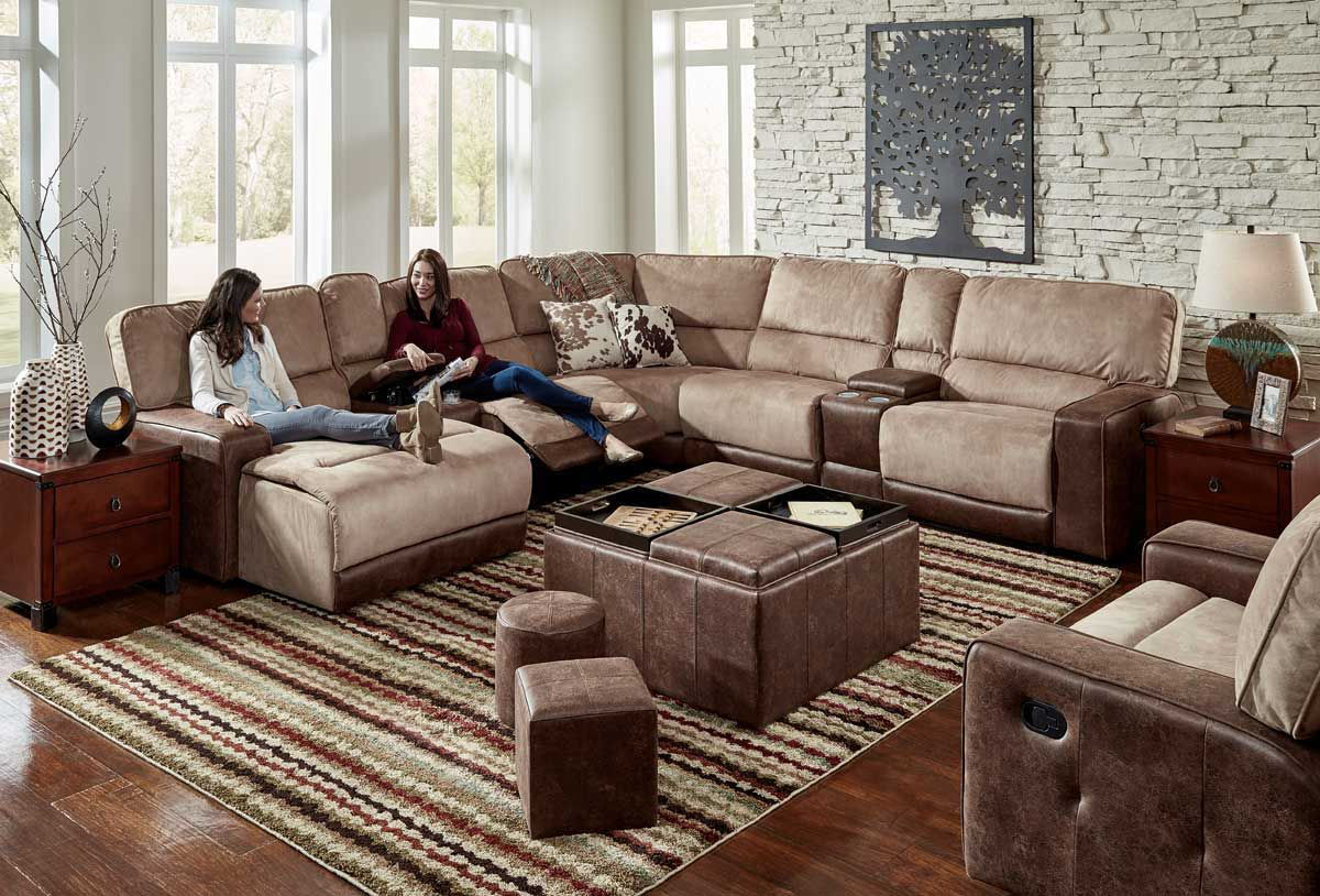 Picture of PASADENA 6 PIECE  LEFT ARM FACING CHAISE SECTIONAL