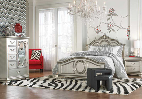 Picture of GRACE SILVER 5 PIECE FULL BEDROOM SET