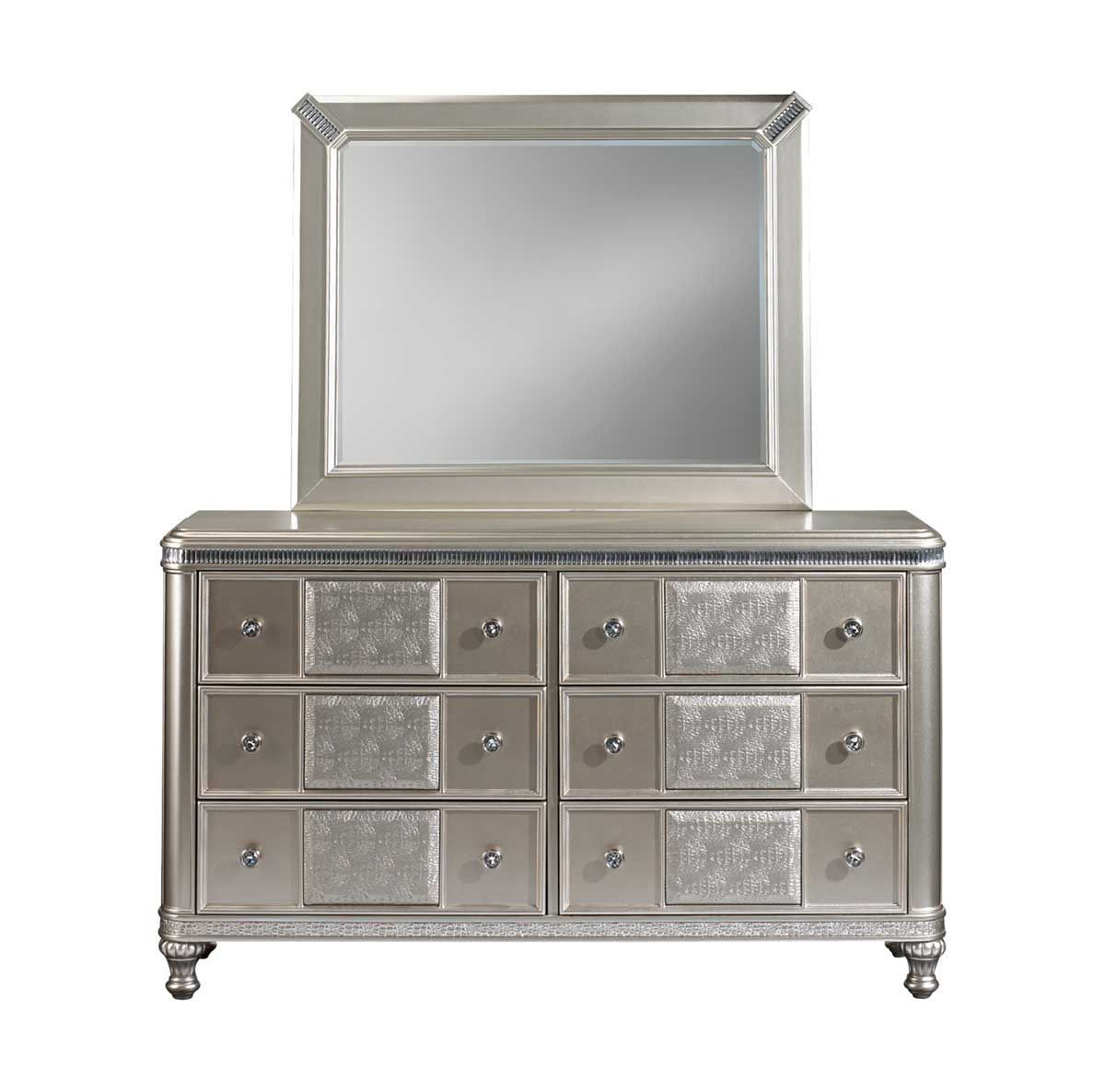 Picture of SILVER GLAM DRESSER & MIRROR