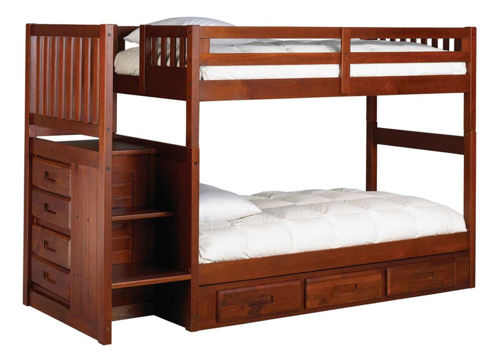 Picture of MADISON MERLOT TWIN OVER TWIN STAIRBED