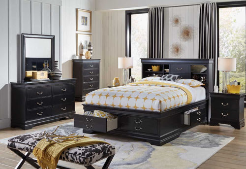 Picture of CARRINGTON II 5 PIECE QUEEN STORAGE BEDROOM SET