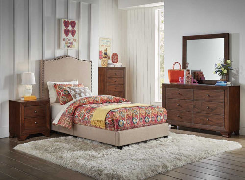 Picture of FLAX II 5 PIECE TWIN BEDROOM SET