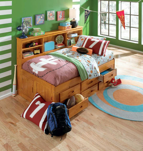 Picture of Kendall Twin Bookcase Storage Bed