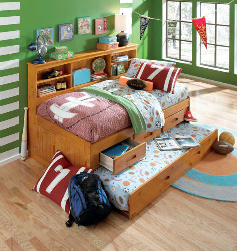 Picture of Kendall Twin Bookcase Trundle Bed