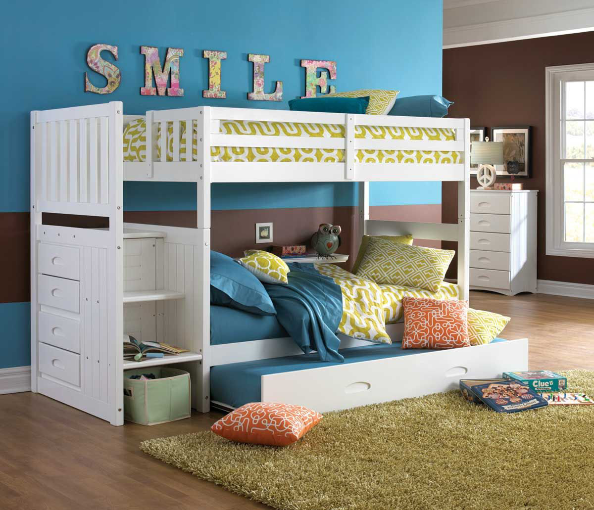 Picture of MADISON WHITE TWIN OVER TWIN STAIRBED
