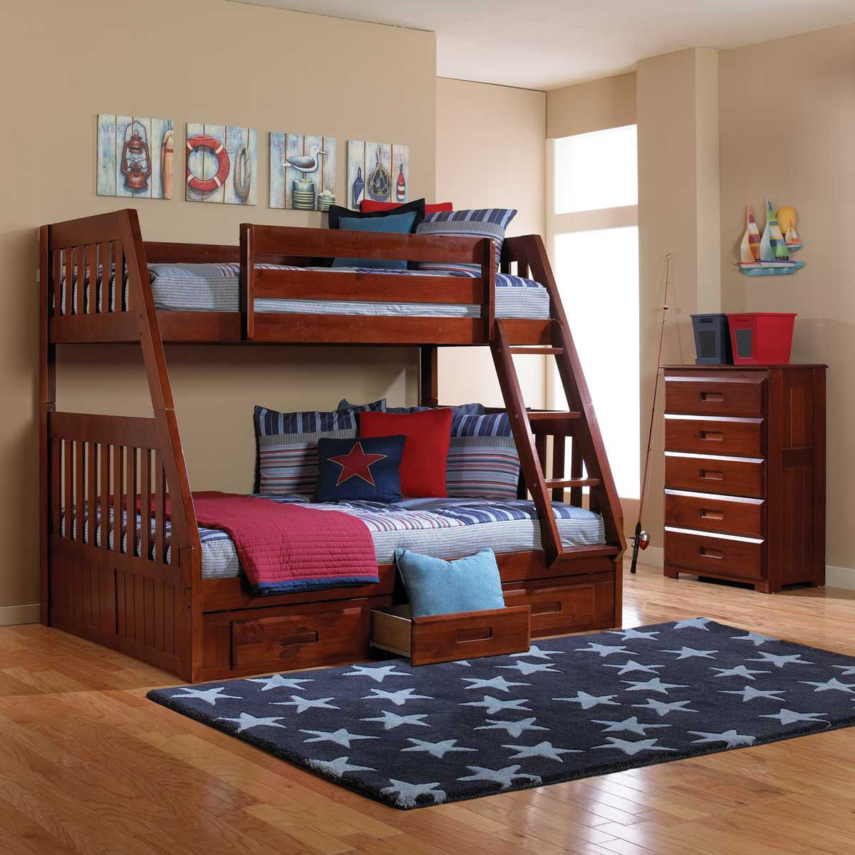 Picture of FORRESTER TWIN OVER FULL BUNK BED