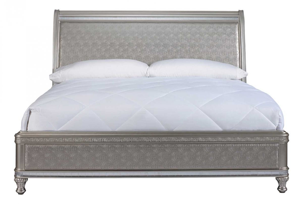 Picture of SILVER GLAM KING SLEIGH BED