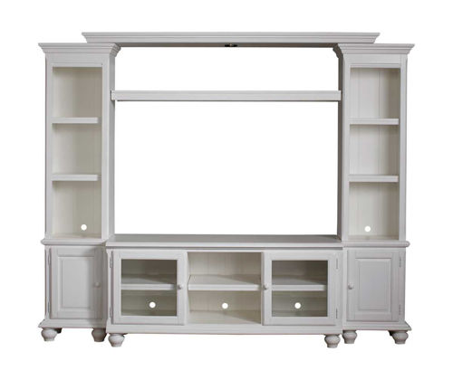 Picture of HAMILTON PARK WHITE 4 PIECE ENTERTAINMENT CENTER