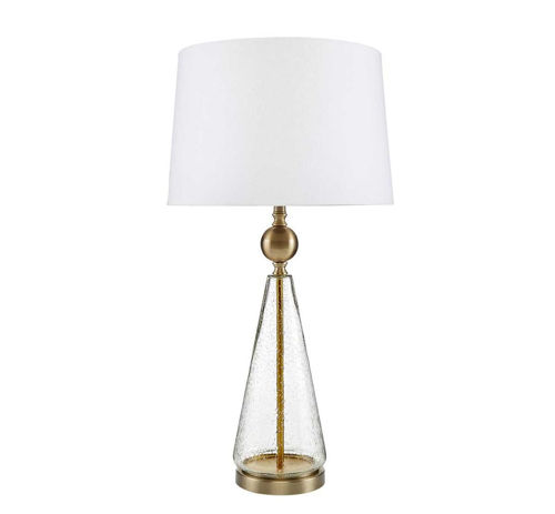 Picture of CASUAL CONTEMPORARY ANTIQUE BRASS/CLEAR LAMP