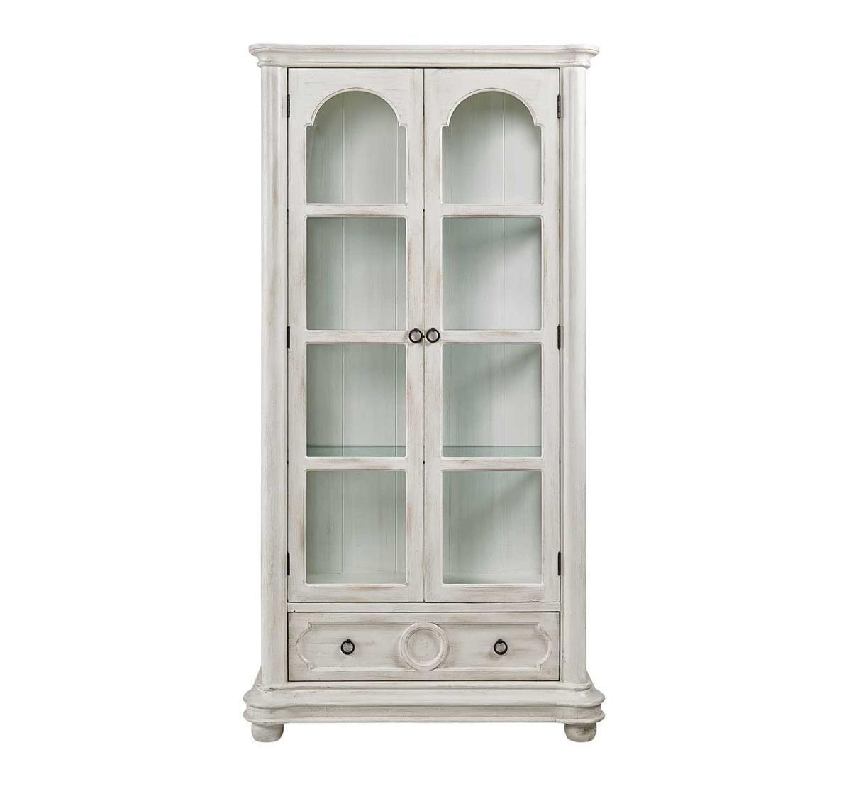 Antique White Curio Cabinet Badcock Home Furniture More