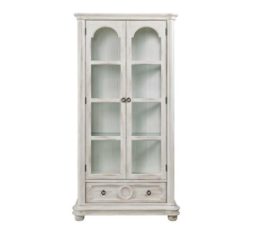 Picture of ANTIQUE WHITE CURIO CABINET