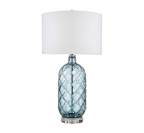 Picture of TRANSITIONAL BLUE GLASS LAMP