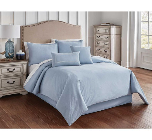 Picture of CHAMBRAY BLUE 6 PIECE KING LINEN SET
