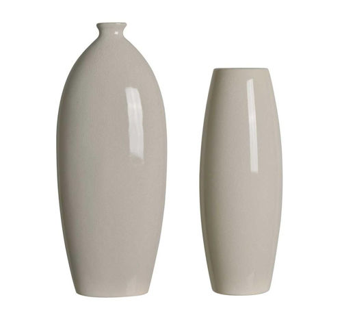 Picture of CREAM CRACKLE VASE SET