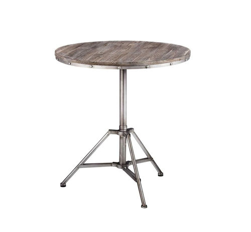 Picture of DISTRESSED GREY ACCENT TABLE
