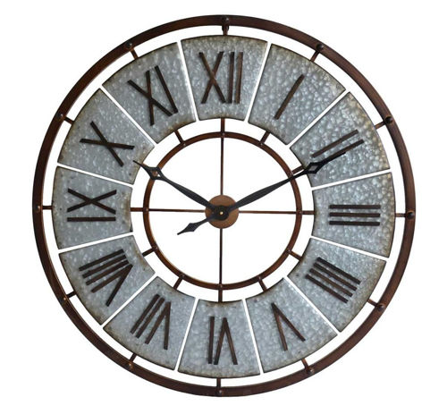 Picture of GALVANIZED METAL WALL CLOCK