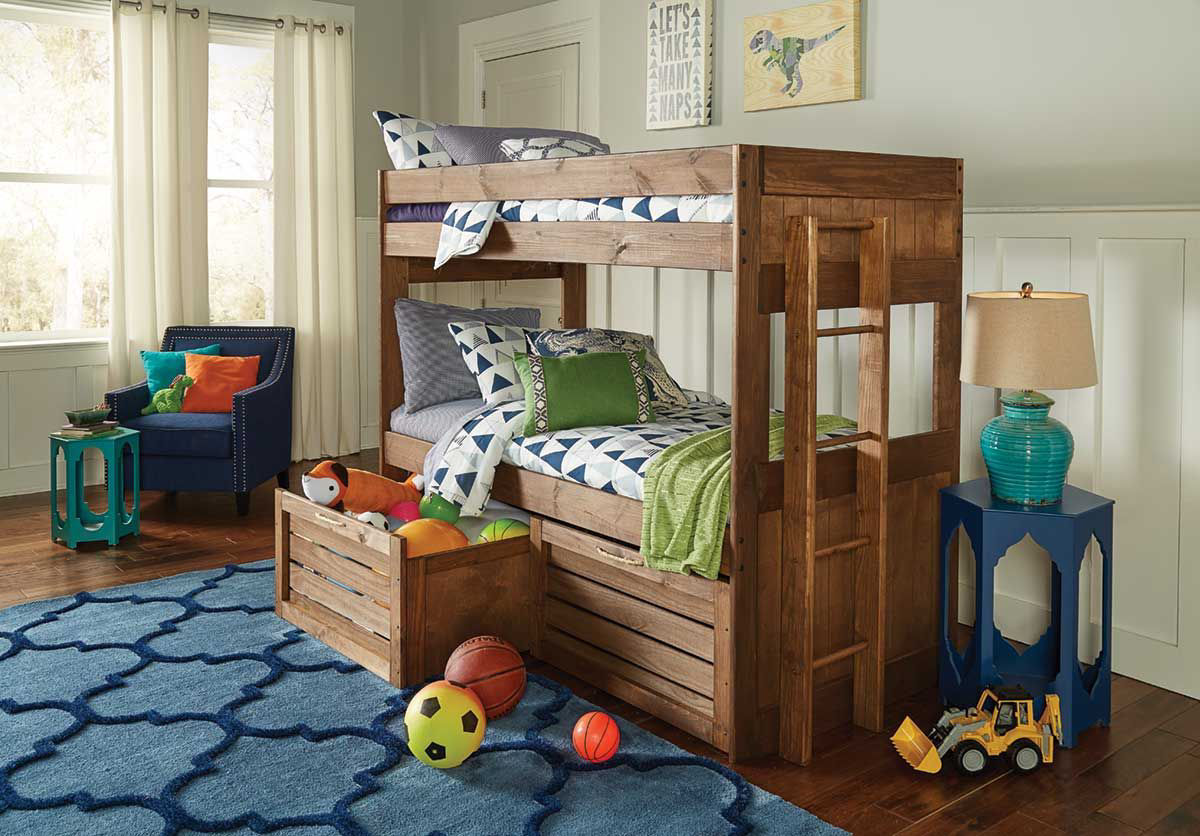 Baylee Twin Bunk Bed W Storage Badcock Home Furniture More