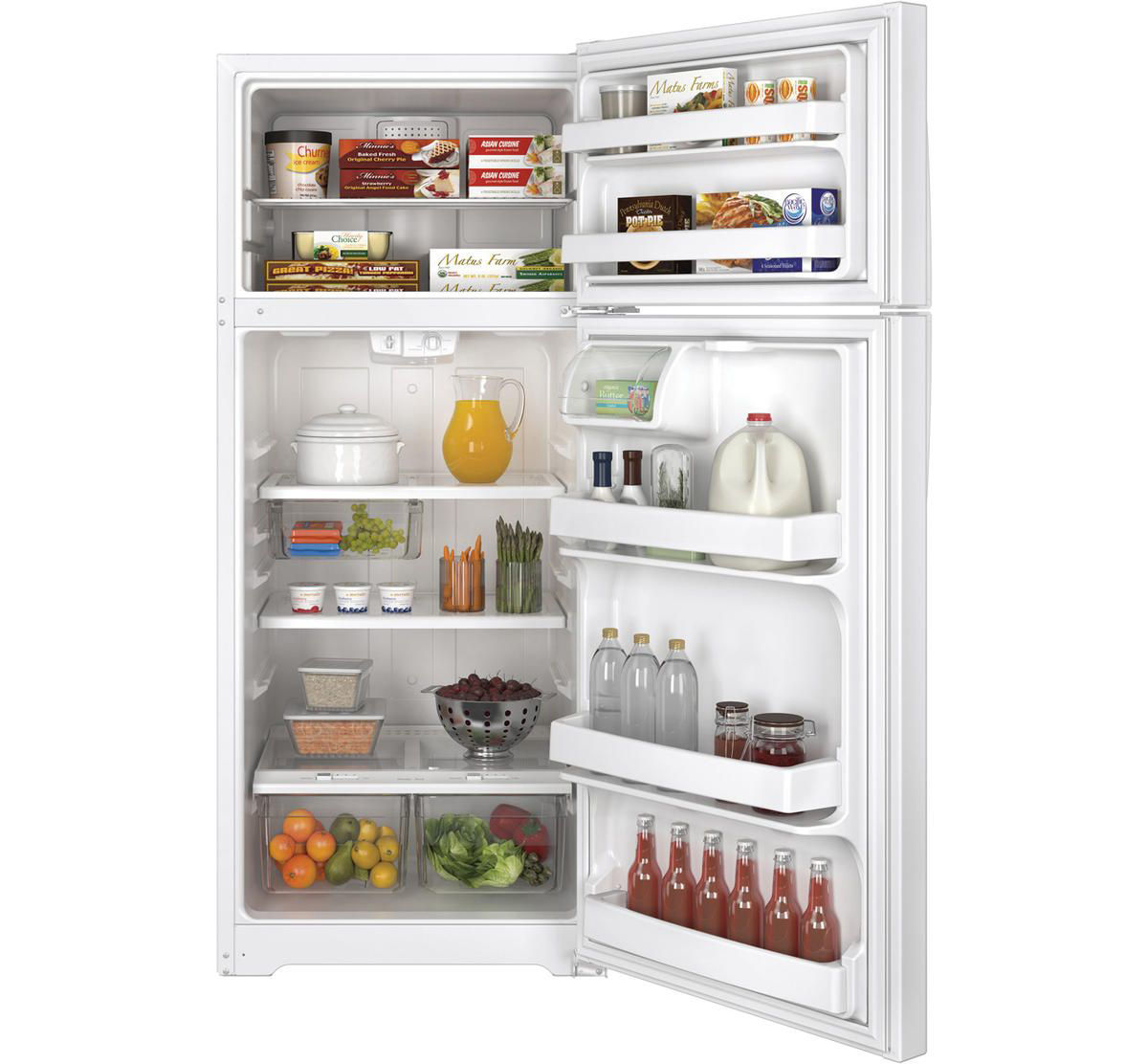 Picture of G.E. TOP FREEZER REFRIGERATOR