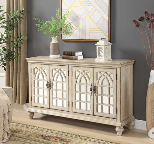 Picture of BASKILL FRENCH CREAM ACCENT CABINET
