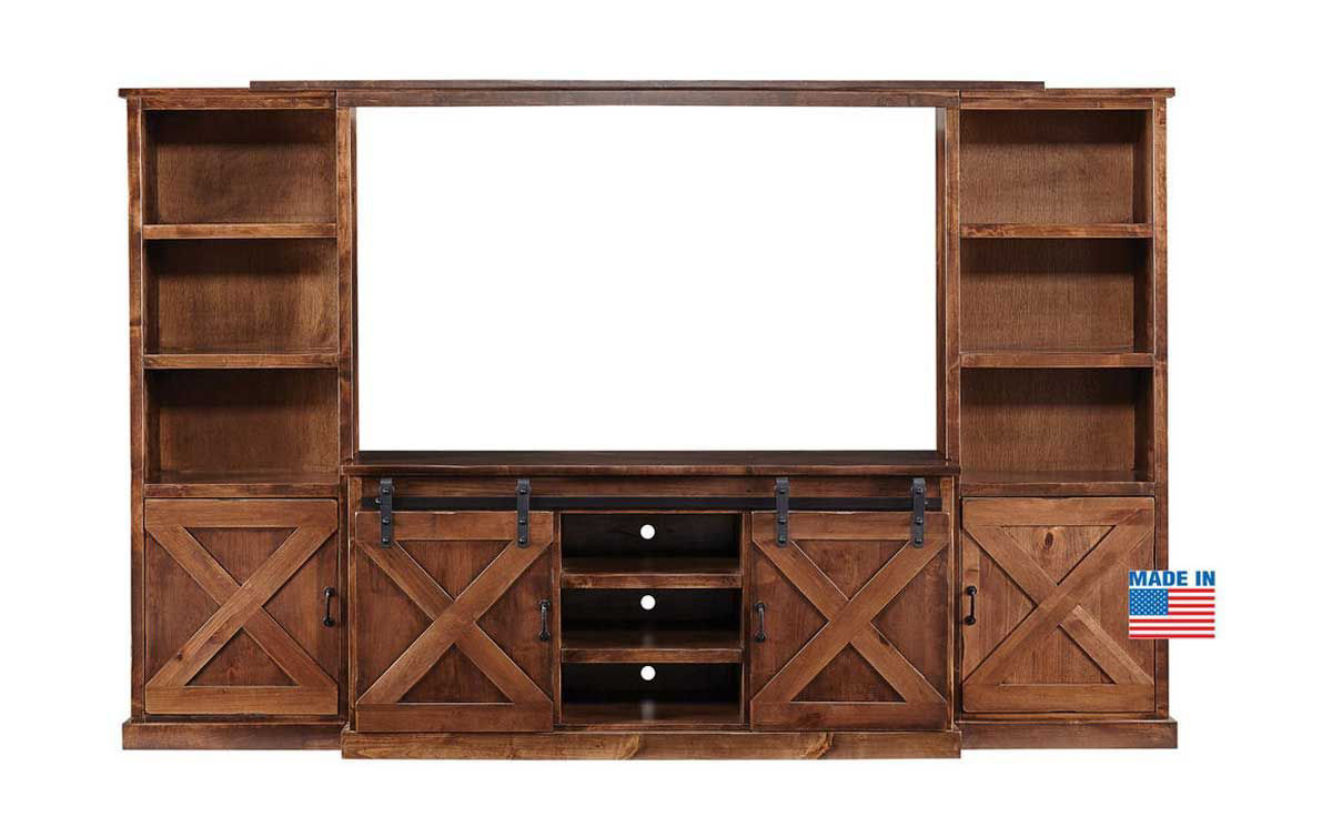 Picture of FARMHOUSE 4 PIECE ENTERTAINMENT CENTER