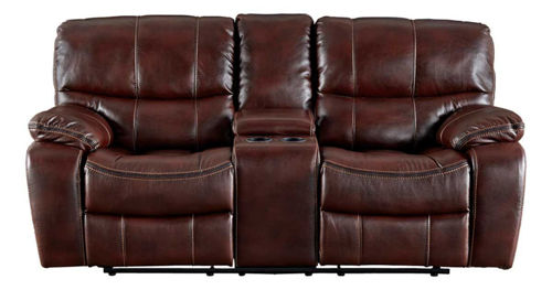 Picture of HAMILTON II BURGUNDY GLIDING CONSOLE LOVESEAT