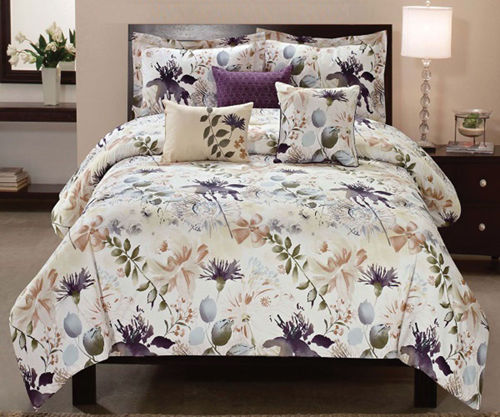Picture of LEAVES 6 PIECE QUEEN LINEN SET
