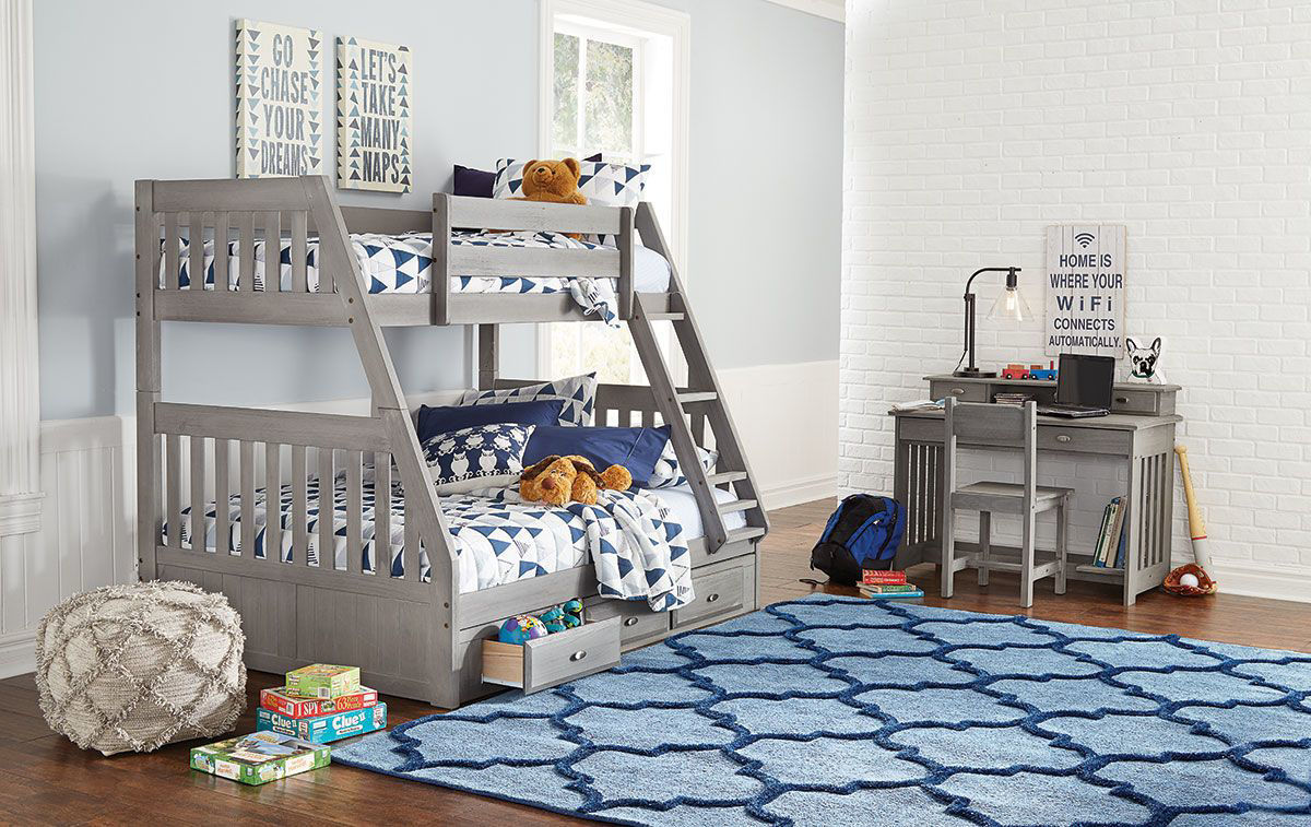 Picture of: Greyson Complete Twin Full Bunk Bed Badcock Home Furniture More