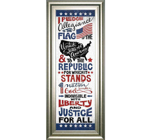 Picture of PLEDGE OF ALLEGIANCE WALL ART
