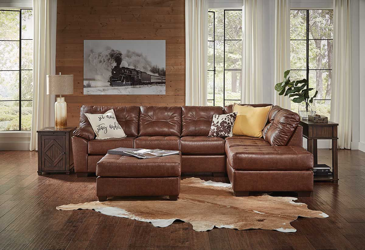 Dr Brown 2 Piece Sectional