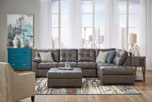 Picture of DRAPER GREY 2 PIECE SECTIONAL