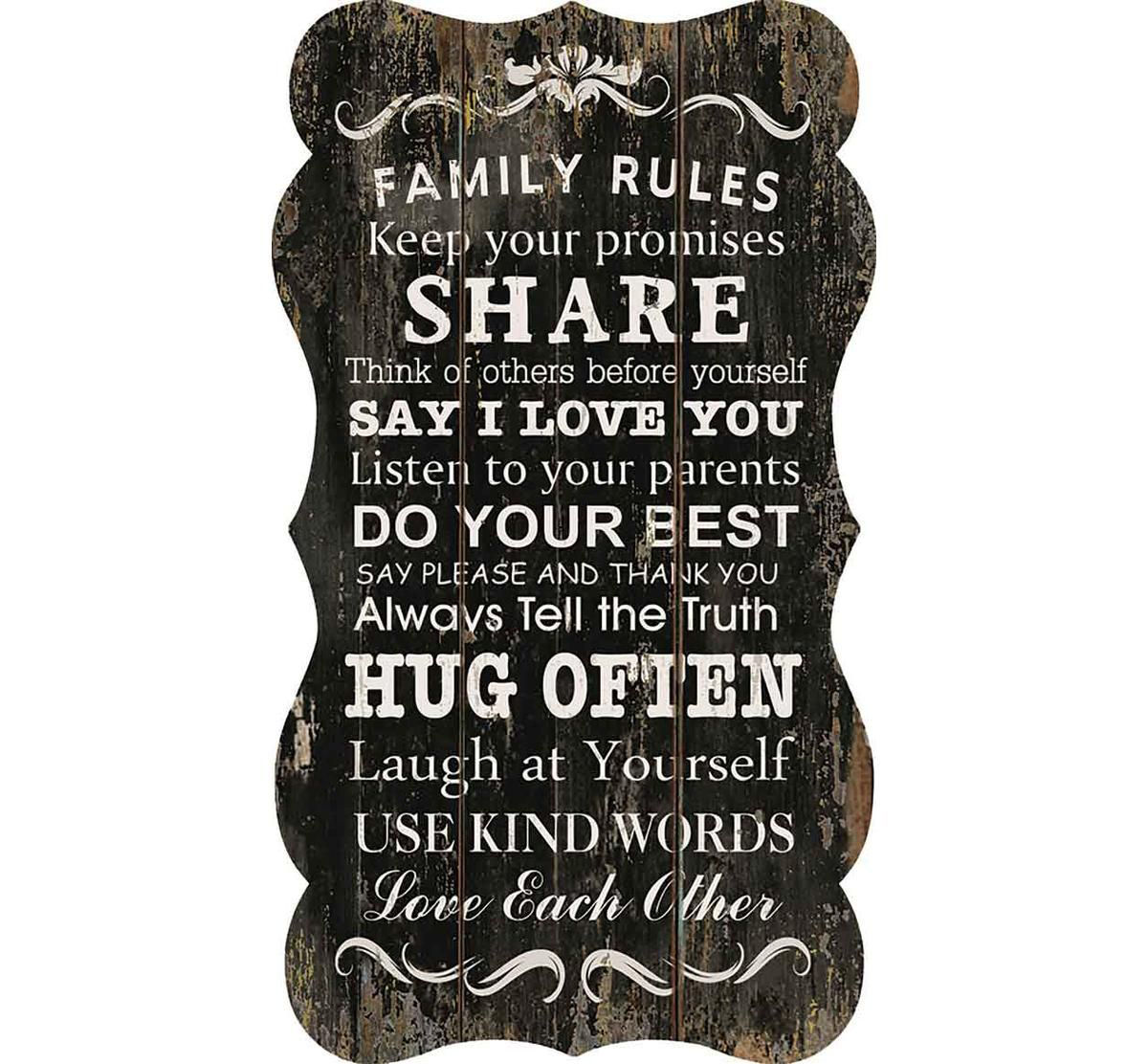 Picture of FAMILY RULES WALL ART