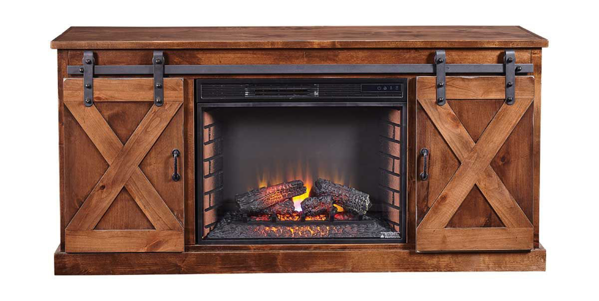 "Picture of FARMHOUSE 66"" FIREPLACE MEDIA CONSOLE"