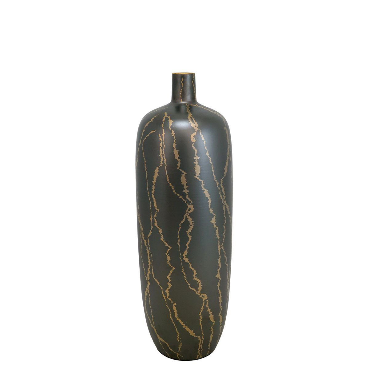 Picture of SMALL BLACK/GOLD VASE