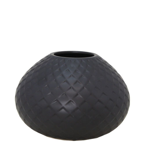 Picture of SMALL BLACK GEO VASE