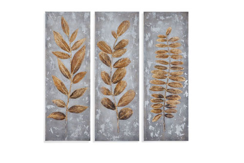 Picture of TRIPTIC LEAVES WALL ART