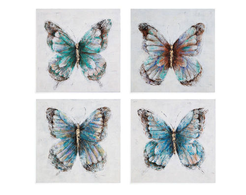 Picture of BUTTERFLY 4 PIECE WALL ART
