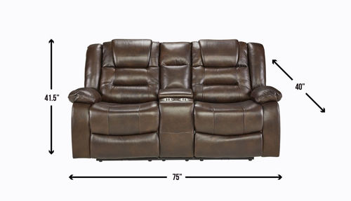 Picture of NEXUS CHOCOLATE DUAL POWER RECLINING LOVESEAT