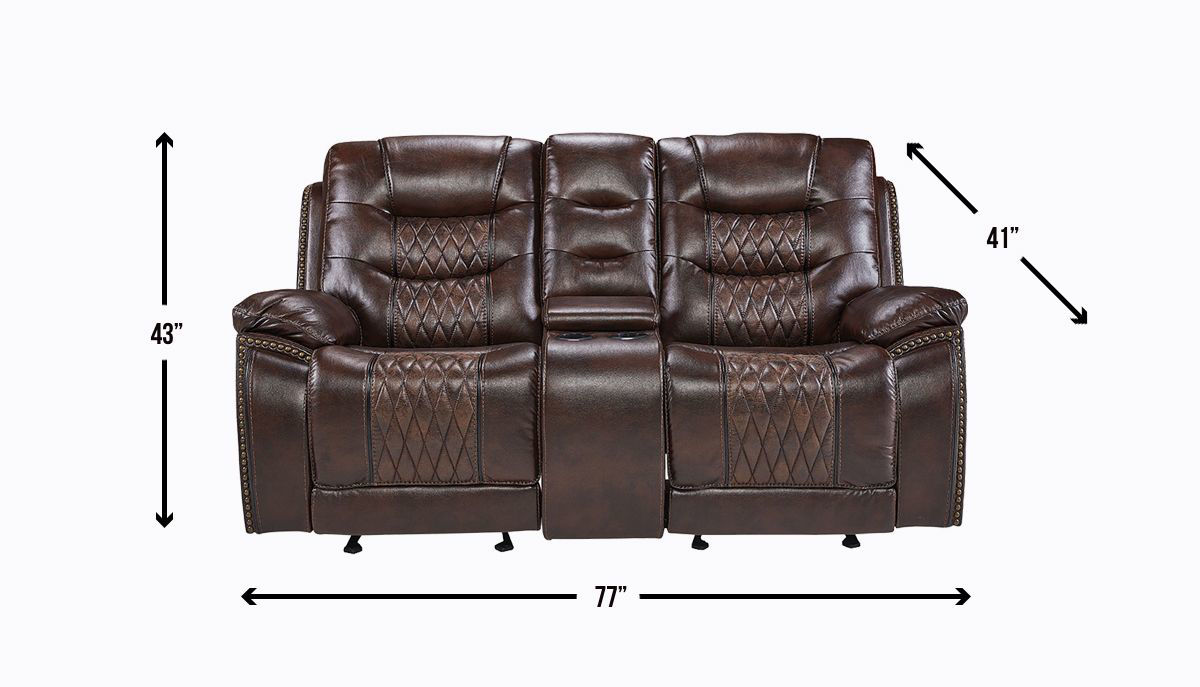 Picture of COMMANDER RECLINING CONSOLE LOVESEAT