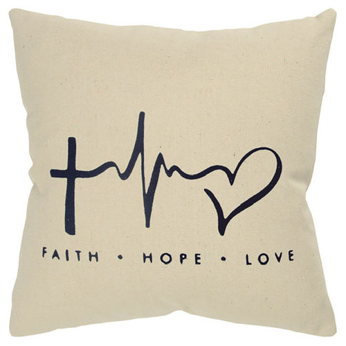 Picture of FAITH HOPE LOVE THROW PILLOW