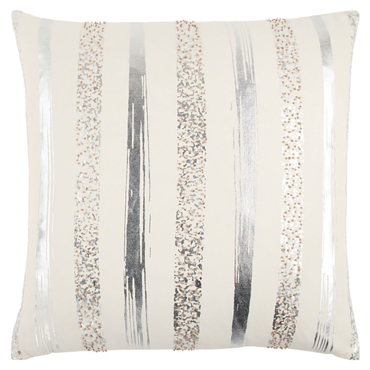 Picture of SILVER STRIPE THROW PILLOW