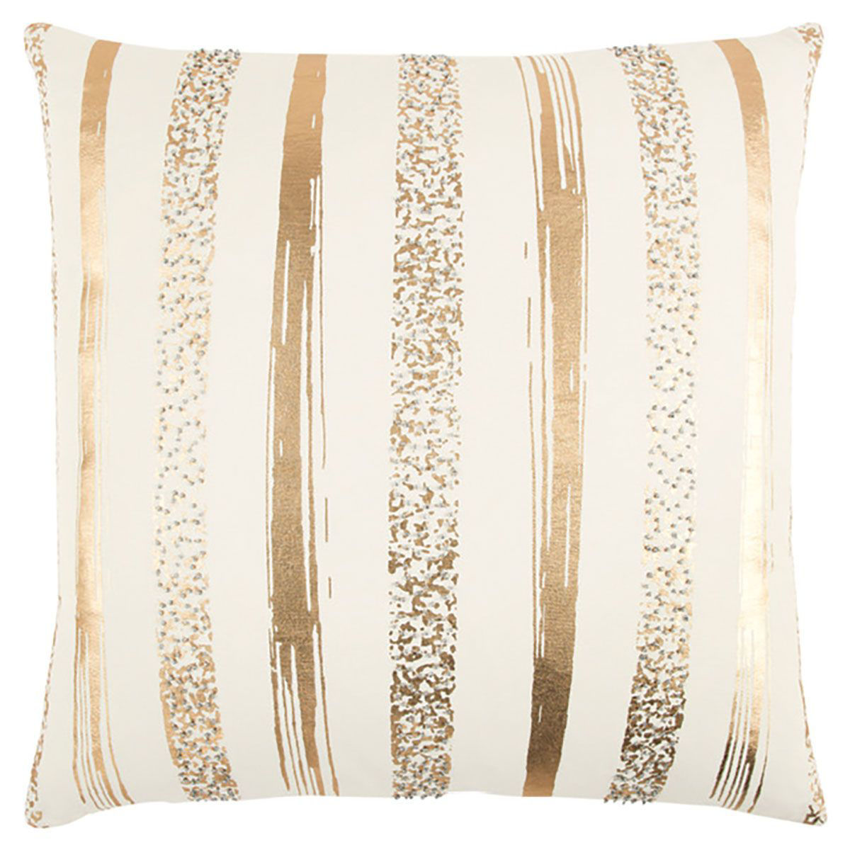Picture of GOLD STRIPE THROW PILLOW
