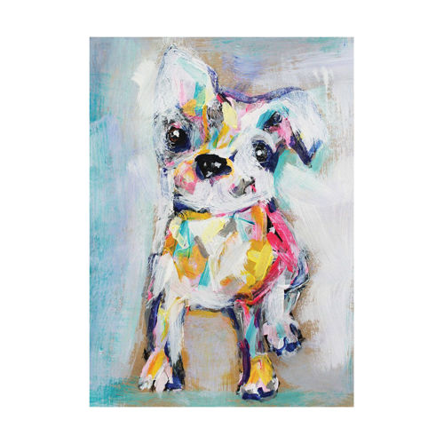 Picture of ABSTRACT DOG WALL HANGING